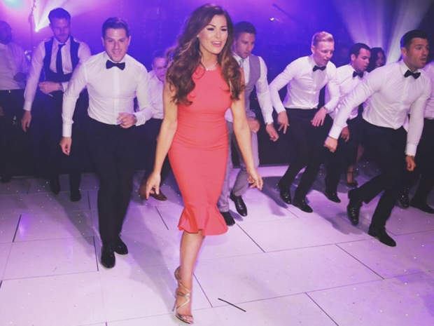 Jess Wright dances at Mark Wright and Michelle Keegan's wedding