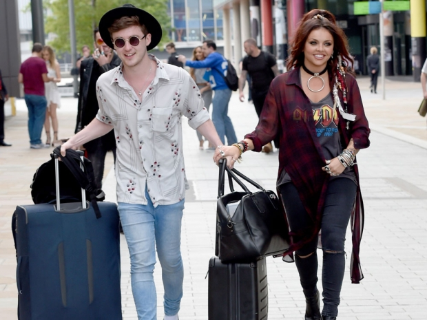 Jesy Nelson and Jake Roche out in Manchester