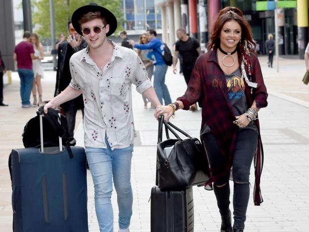 Jesy Nelson and boyfriend Jake Roche in Manchester