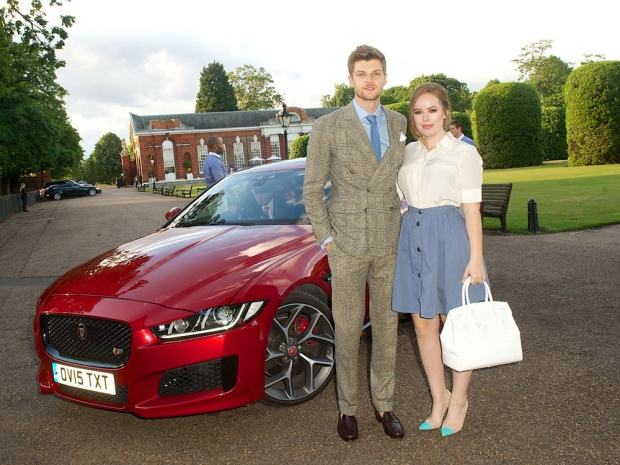 Tanya Burr and Jim Chapman at Wimbledon