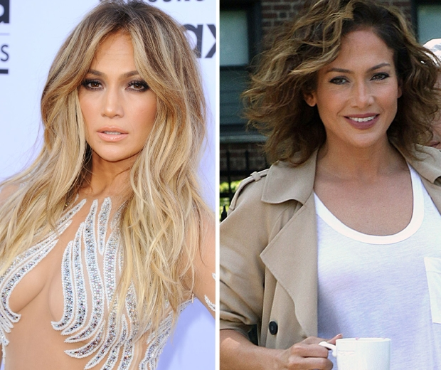 Jennifer Lopez goes from blonde to brunette