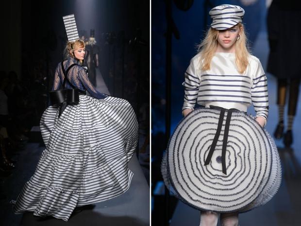 Jean Paul Gaultier's couture catwalk.
