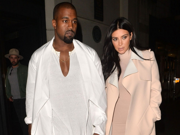 Kanye West and Kim Kardashian out in London