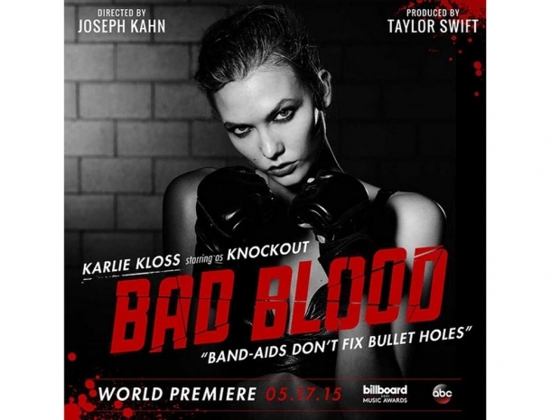 Karlie Kloss in the poster for Taylor Swift's Bad Blood