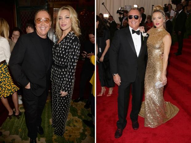 Kate Hudson and Michael Kors at the Met Gala