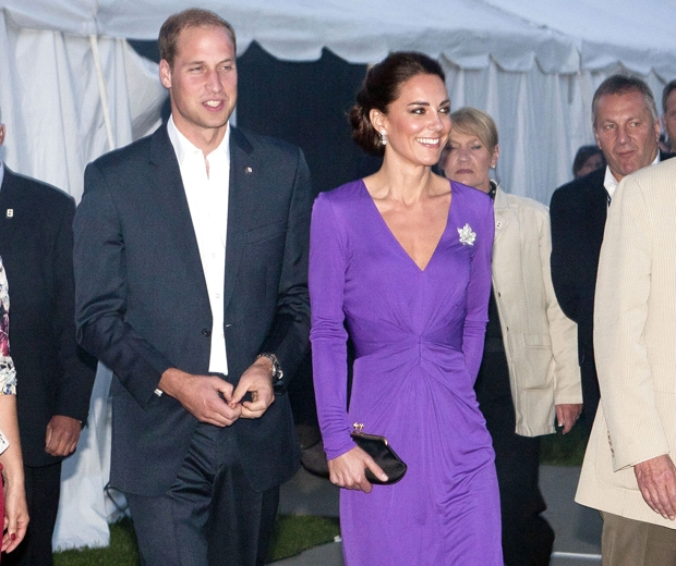 kate middleton in purple issa wrap dress