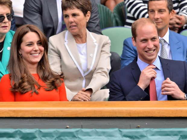 Kate Middleton with Prince William at Wimbledon