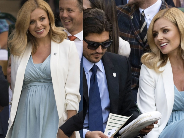Katherine Jenkins and Andrew Levitas at Wimbledon