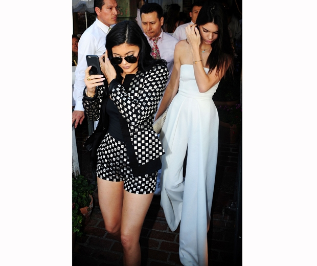 Kendall and Kylie Jenner head to their grandma's birthday bash