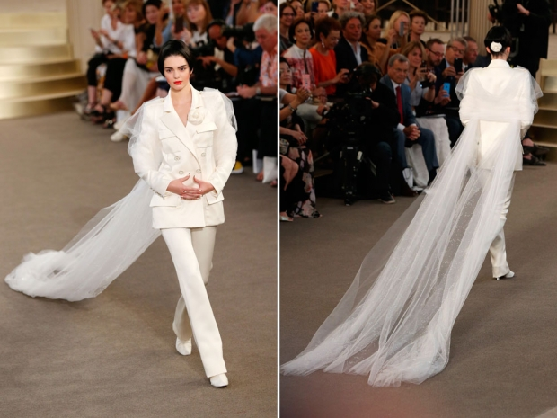 Kendall Jenner on the Chanel Couture catwalk.