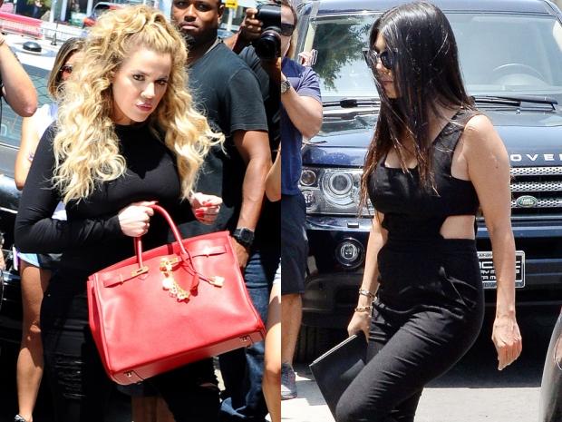 Khloe Kardashian and Kourtney Kardashian in LA
