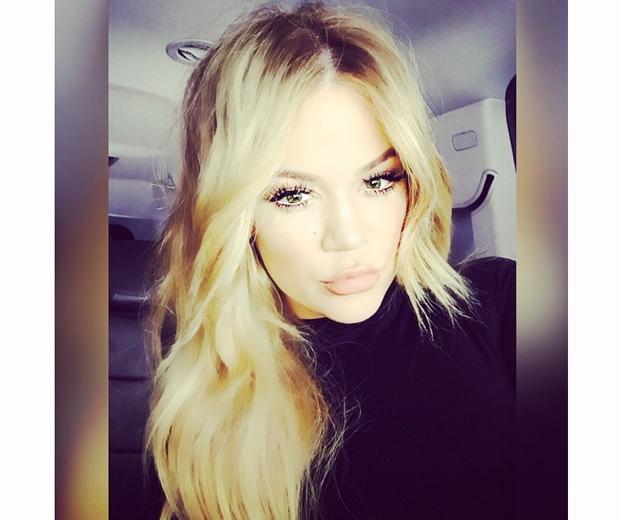 khloe kardashian new blonde hair instagram
