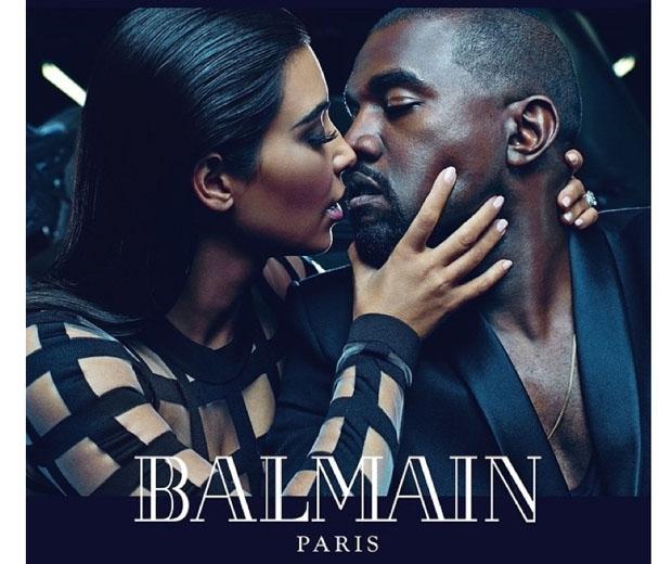 Kim and Kanye front Balmain's SS15 campaign