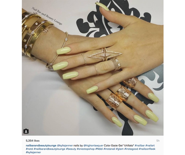 kylie jenner yellow nails - nailbar and beauty lounge instagram - look.co.uk.jpg