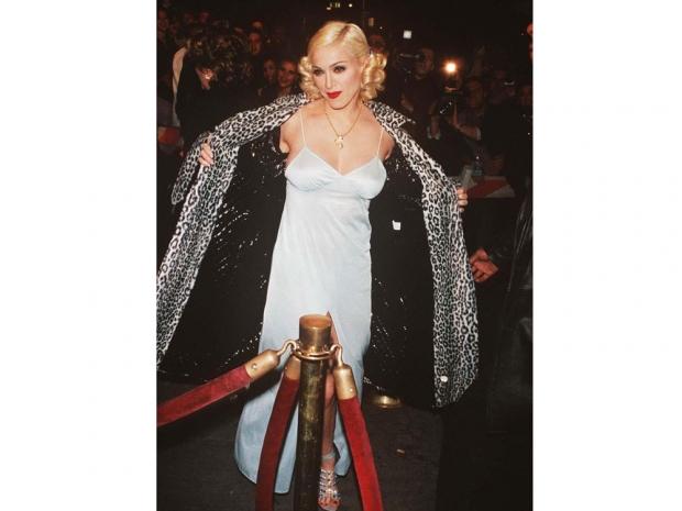 Madonna in leopard print.