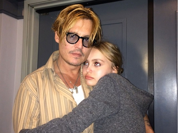 Lily-Rose with Johnny Depp