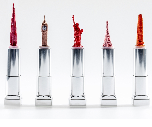 Lipstick sculptures at Heathrow airpory