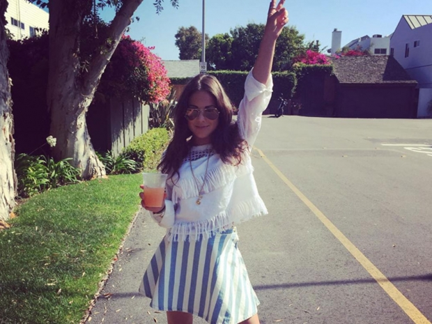 Louise Thompson in LA in Instagram photo