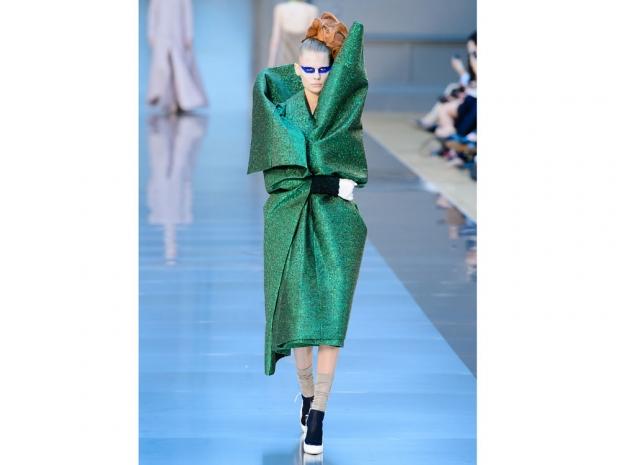 Maison Margiela's striking green look.