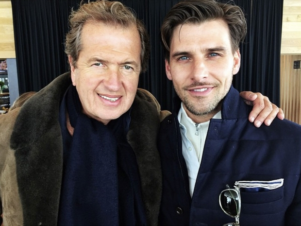 Johannes Huebl and Mario Testino.