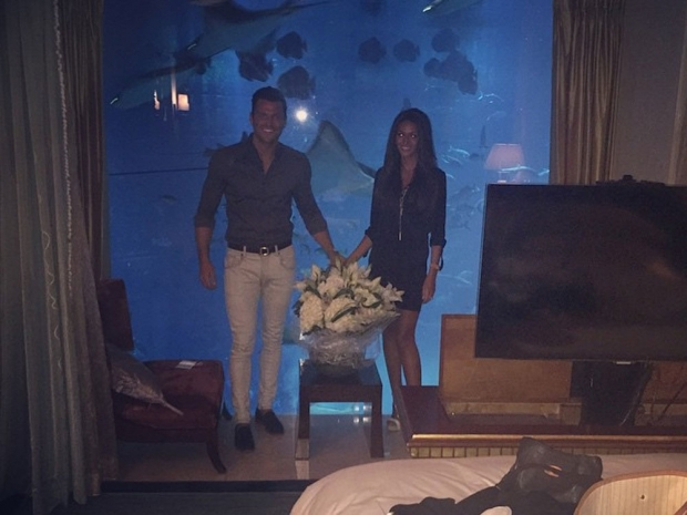 Mark Wright and Michelle Keegan on honeymoon