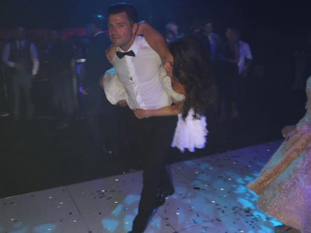 Mark Wright and Michelle Keegan on their wedding day
