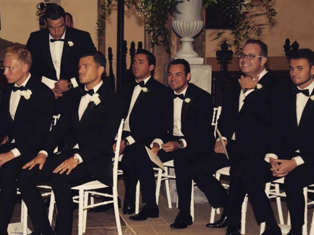 Mark Wright and his groomsmen on his wedding day
