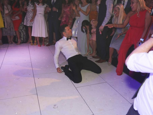 Mark Wright dancing on his wedding day