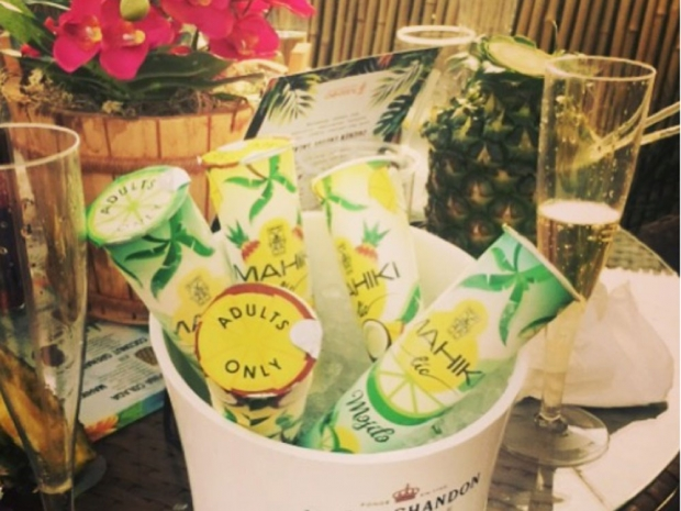 Mark Wright's photo of mojito ice lollies on Instagram
