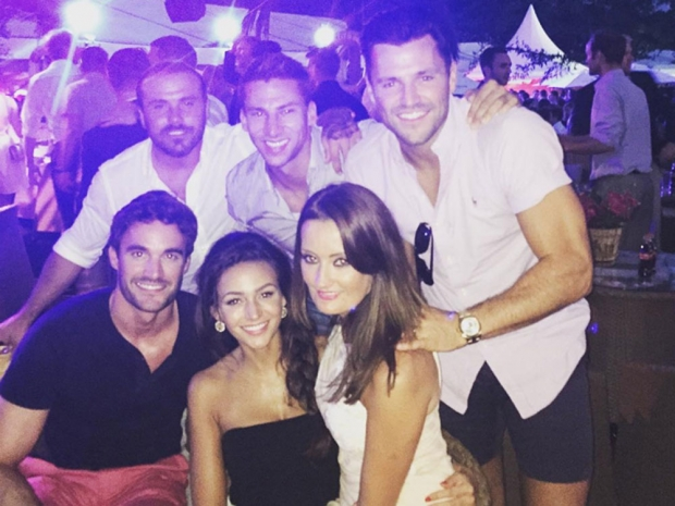 Michelle Keegan and Mark Wright with friends on Instagram at Henley Regatta