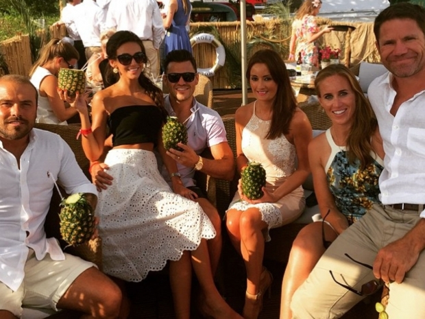 Michelle Keegan and Mark Wright with friends on Instagram