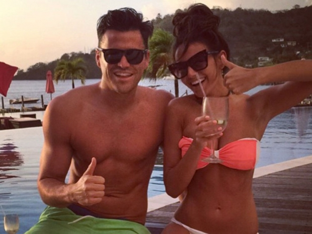 Mark Wright and Michelle Keegan on holiday