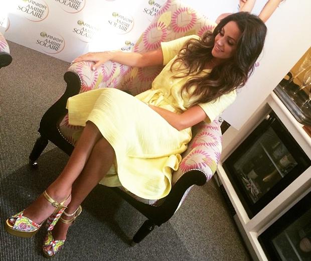 michelle keegan in pretty yellow dress
