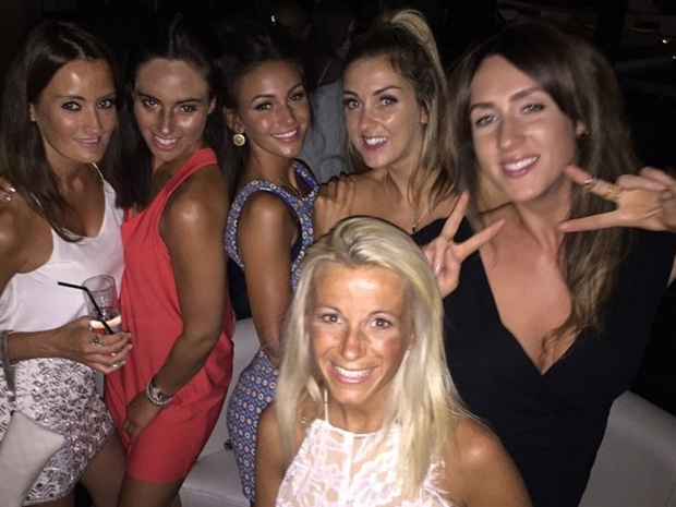 Michelle Keegan on hen do in Marbella