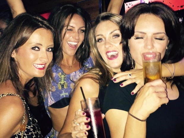 Michelle Keegan partying on a hen do in Marbella in Instagram photo