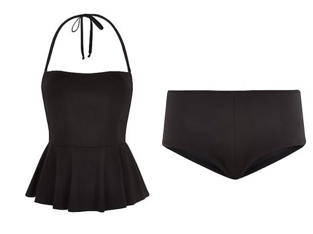 New Look Peplum Tankini Top, £17.99 & New Look Boy Short, £7.99