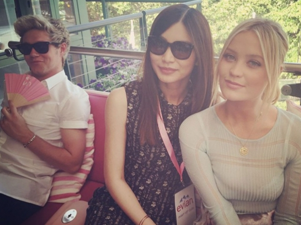 Niall Horan, Gemma Chan and Laura Whitmore at Wimbledon in Instagram photo