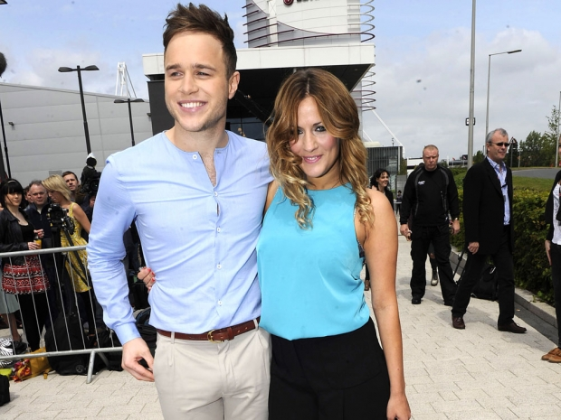 Caroline Flack and Olly Murs at The X Factor auditions in 2011