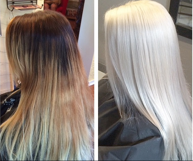 Hair transformations from the Olaplex Instagram page