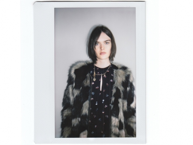 Sam Rollinson backstage at the shoot for Pepe Jeans AW15