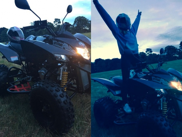 Perrie Edwards shows off her quad bike on Instagram