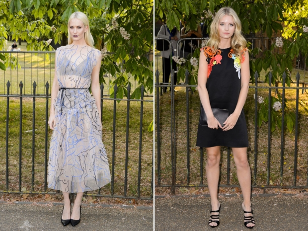 Poppy Delevingne and Lottie Moss at the Serpentine party.