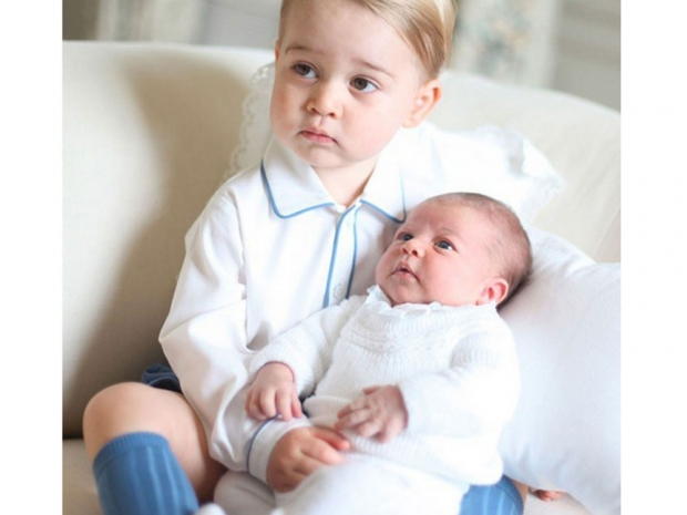 Prince George with his sister Princess Charlotte