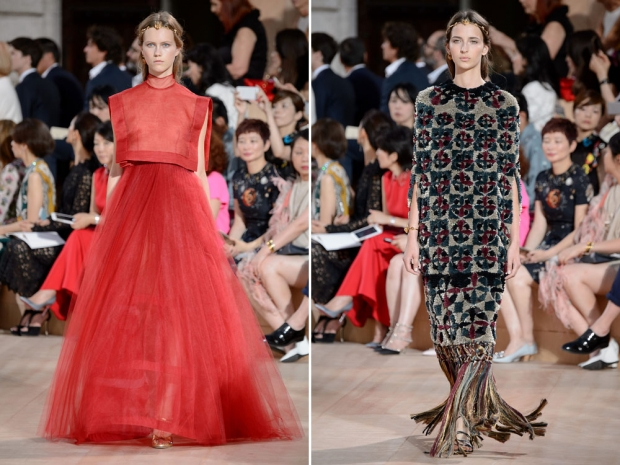 Amazing Roman gowns on the Valentino red carpet.
