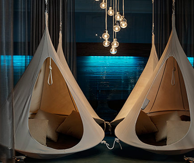 Relaxation pods at The Spa at the Midland