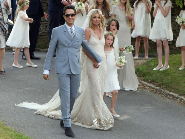Kate Moss and Jamie Hince on their wedding day