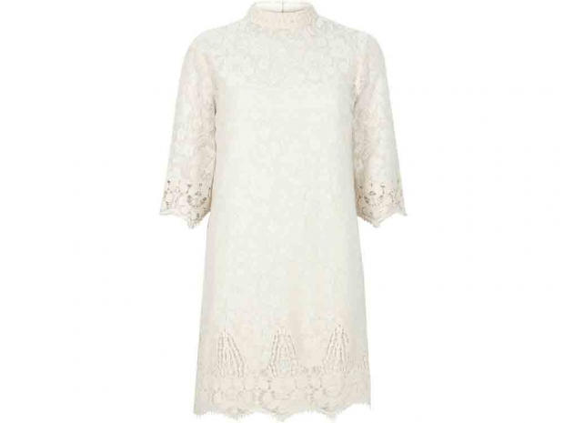 cream dress, river island