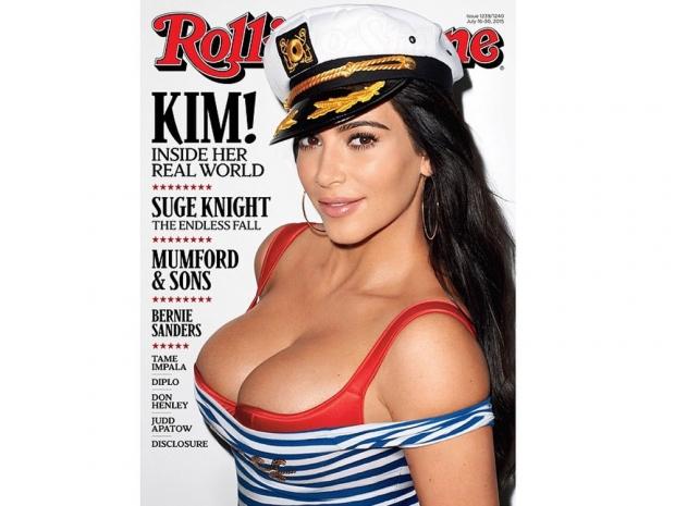 Kim Kardashian on the cover of Rolling Stone magazine