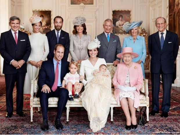 Official photo Princess Charlotte's christening