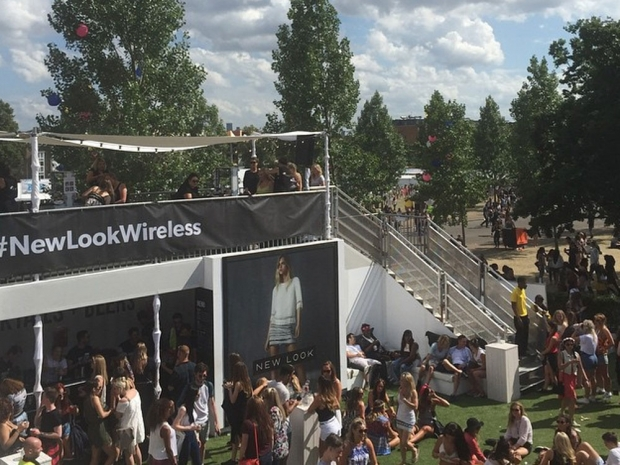 The New Look roof terrace at Wireless 2015.